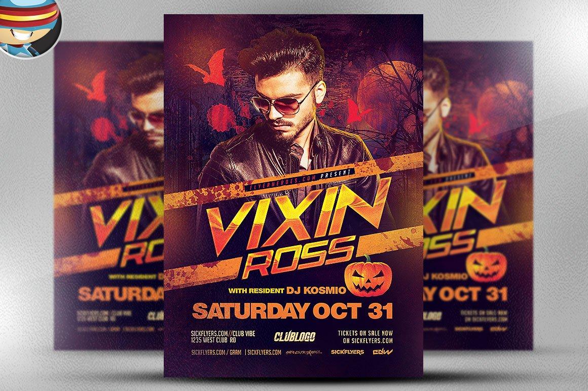 Vixin Halloween Club Flyer Template ~ Flyer Templates on Creative ...