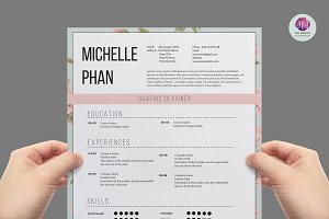 Elegant 1 page CV template