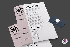 CV template (+cover letter)