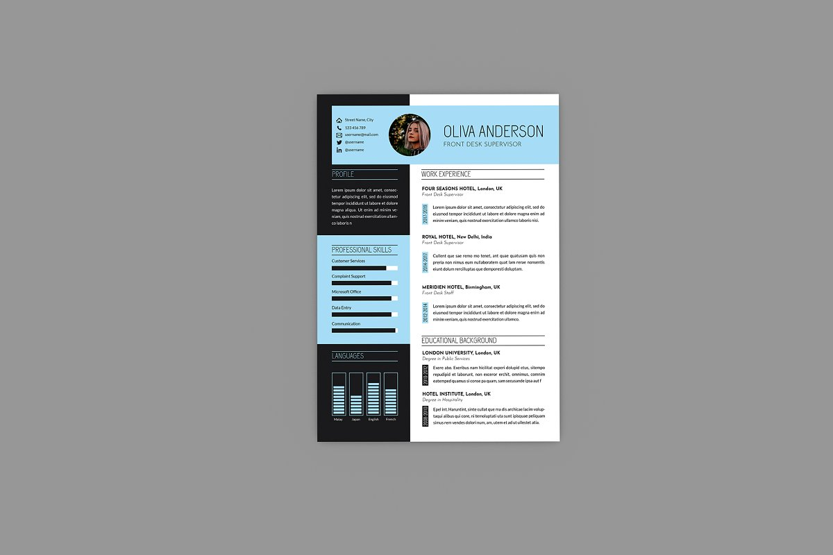 Intrust CV Resume Designer in Resume Templates - product preview 2