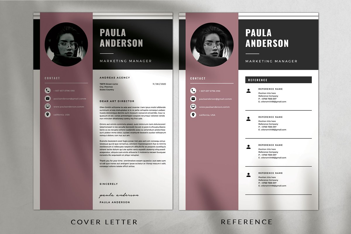 Resume Template / Cv Template in Resume Templates - product preview 2