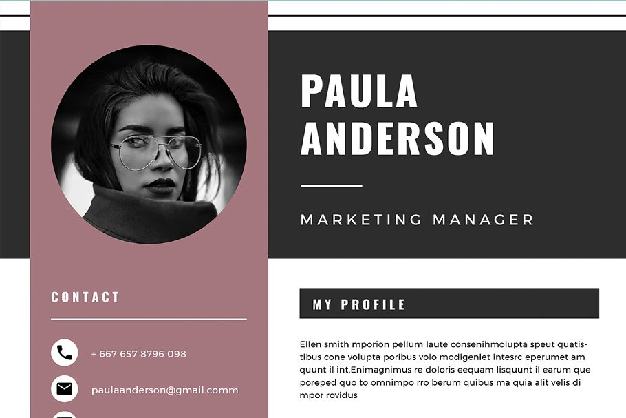 Resume Template / Cv Template in Resume Templates - product preview 4