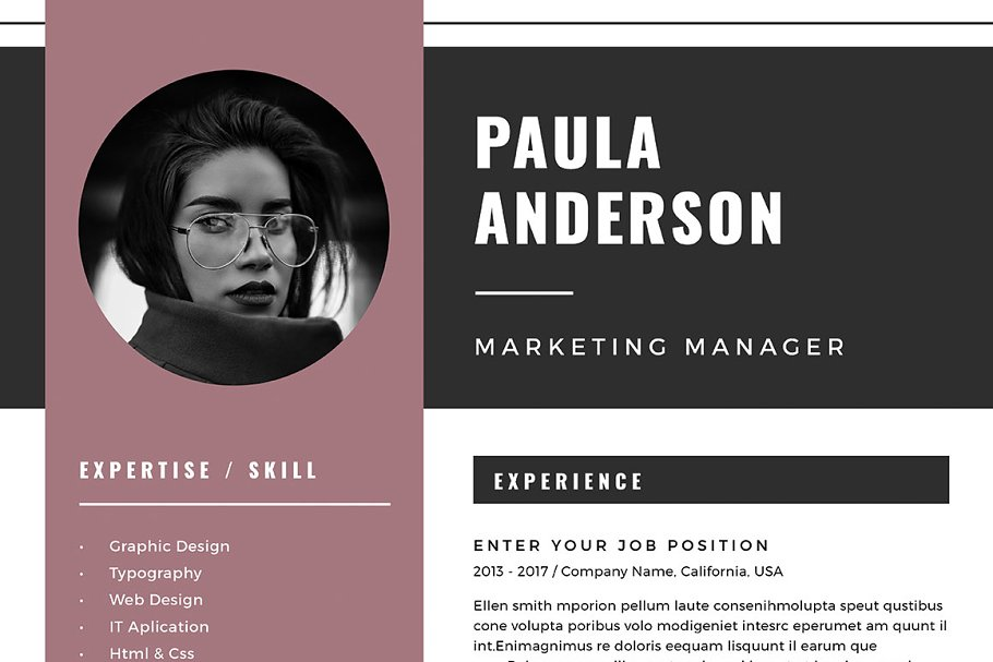 Resume Template / Cv Template in Resume Templates - product preview 5