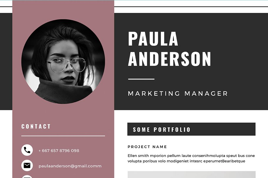 Resume Template / Cv Template in Resume Templates - product preview 8