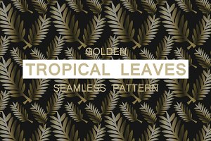 The Golden Tropical Leaves Pattern