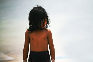 Little boy in Mabul Island,Malaysia