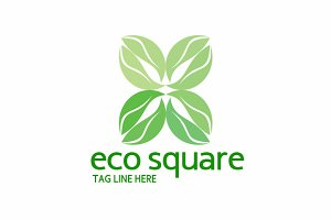 Eco Square Logo Template