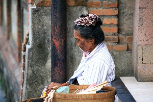 Old Women in Bali, Indonesia