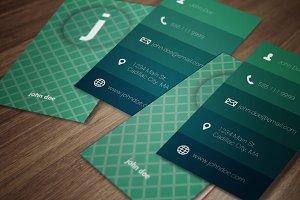 Sea Foam Modern Business Card