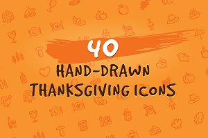 40 Hand-Drawn Thanksgiving Icons