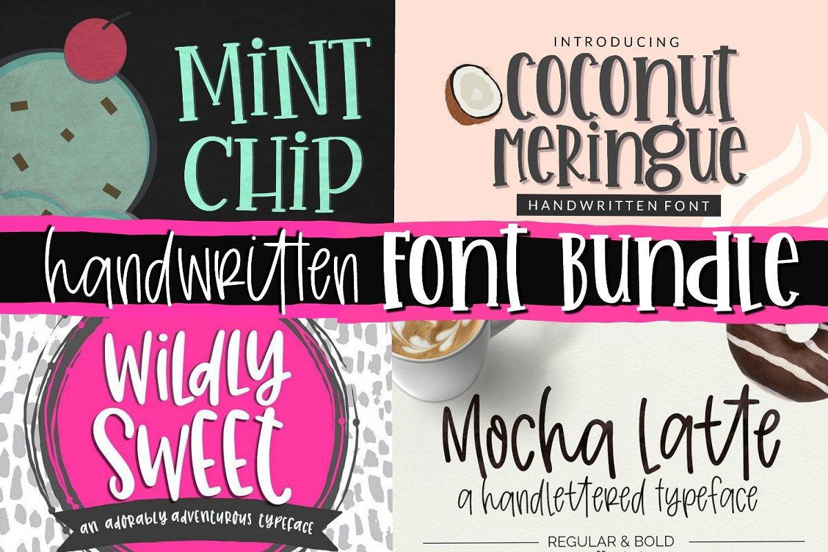 Handwritten Font Bundle Mini Pack