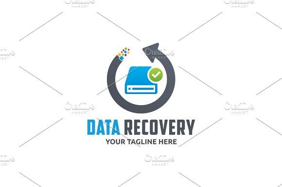 Data Recovery Logo | Creative Illustrator Templates ~ Creative Market