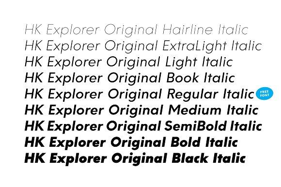 HK Explorer Typeface Sans Serif Fonts Creative Market