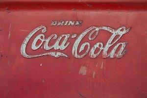 Old Coca Cola logo on ice bucket