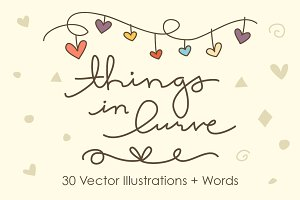 Things in Lurve - 30 Vector Objects