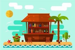 Vector Illustration of Cocktail Bar