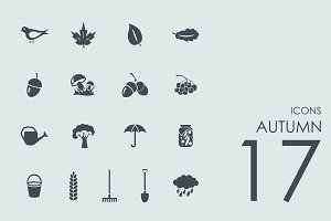 17 Autumn icons