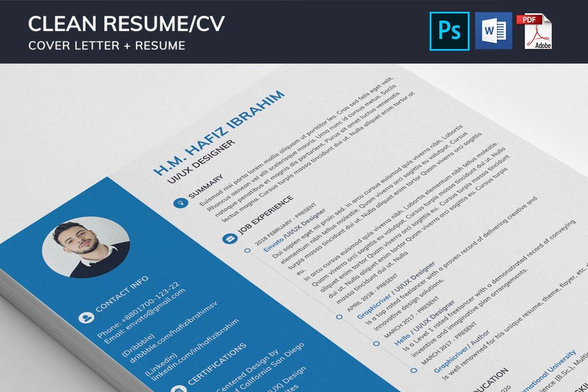 Clean Resume/CV in Resume Templates