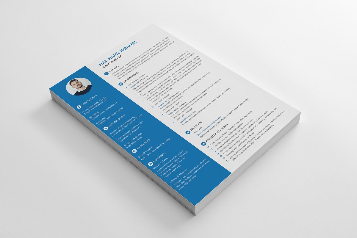 Clean Resume/CV in Resume Templates - product preview 2