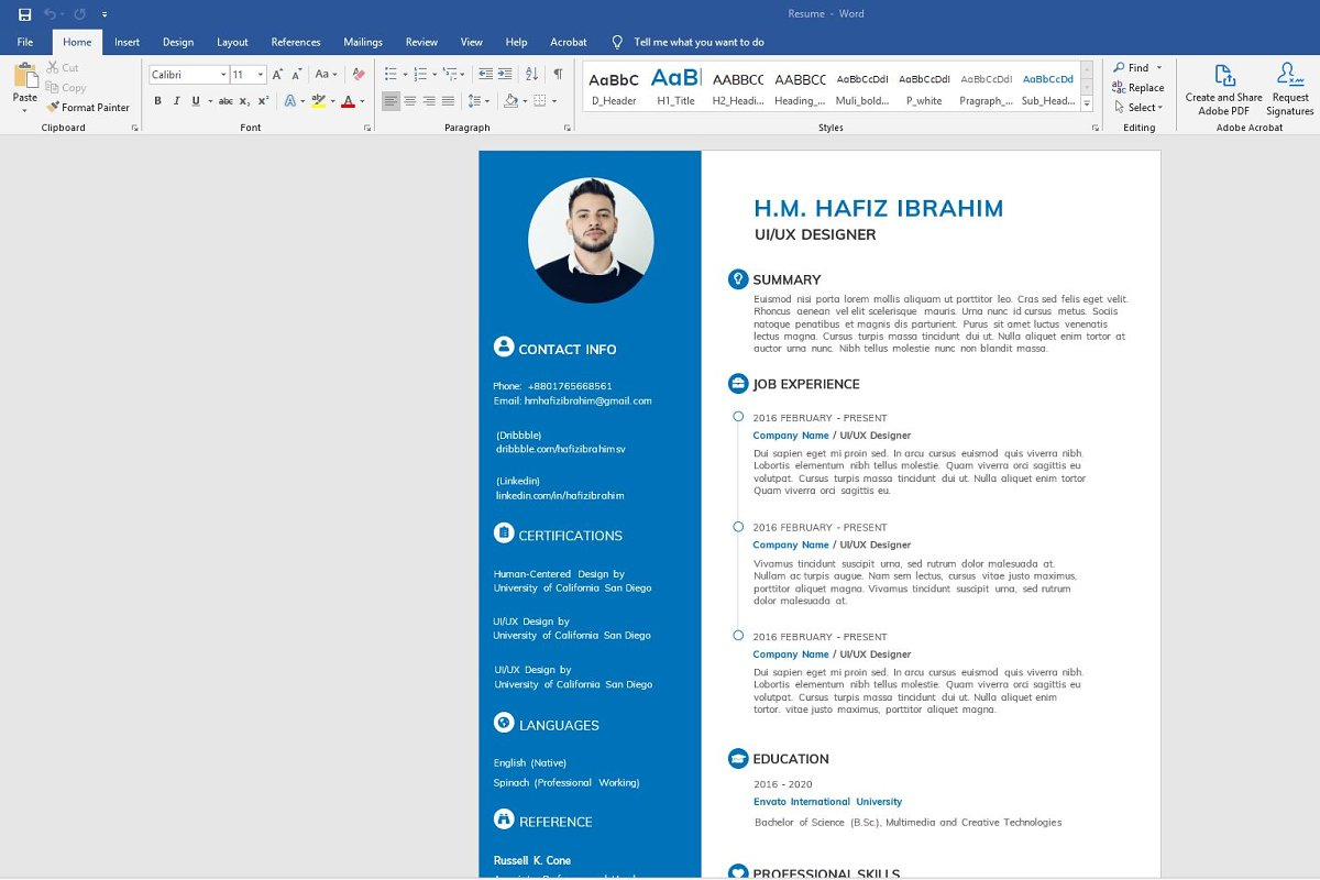 Clean Resume/CV in Resume Templates - product preview 3