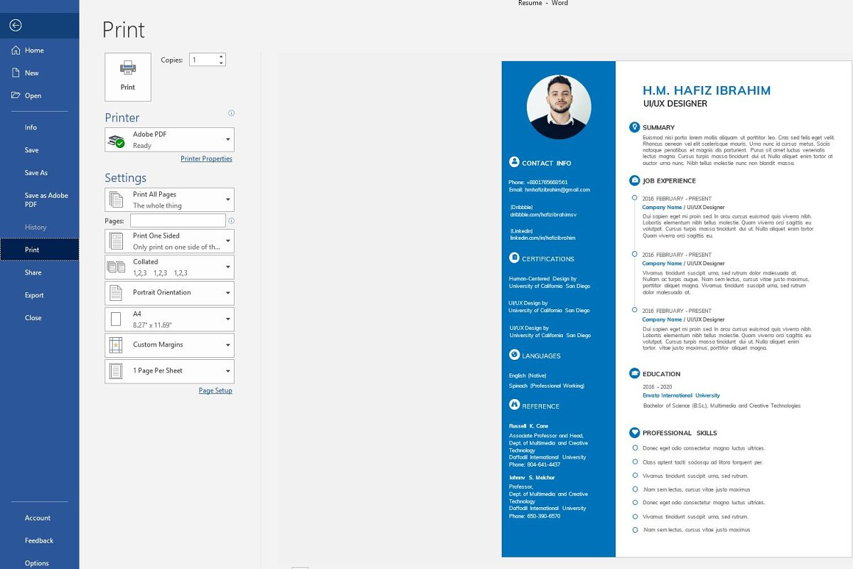 Clean Resume/CV in Resume Templates - product preview 4