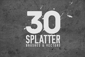 30 Splatter Brushes