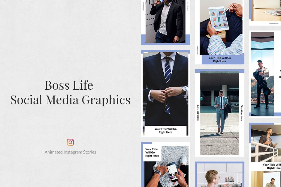 Boss Life Animated Instagram Stories in Instagram Templates