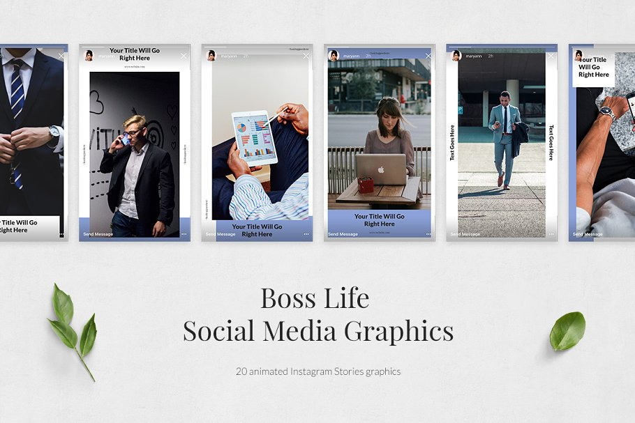 Boss Life Animated Instagram Stories in Instagram Templates - product preview 1
