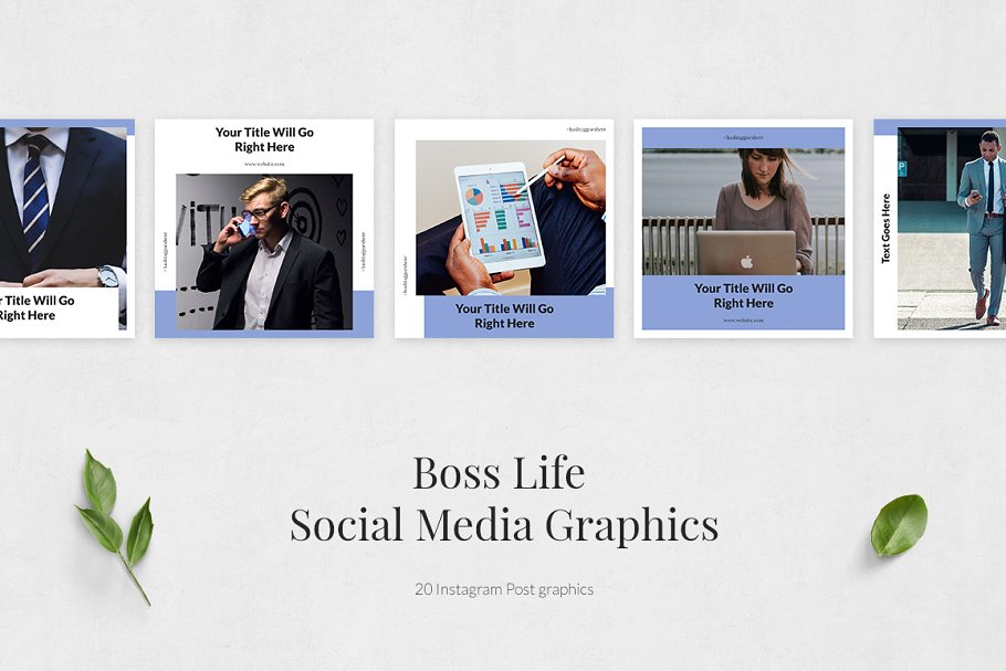 Boss Life Instagram Posts in Instagram Templates - product preview 1