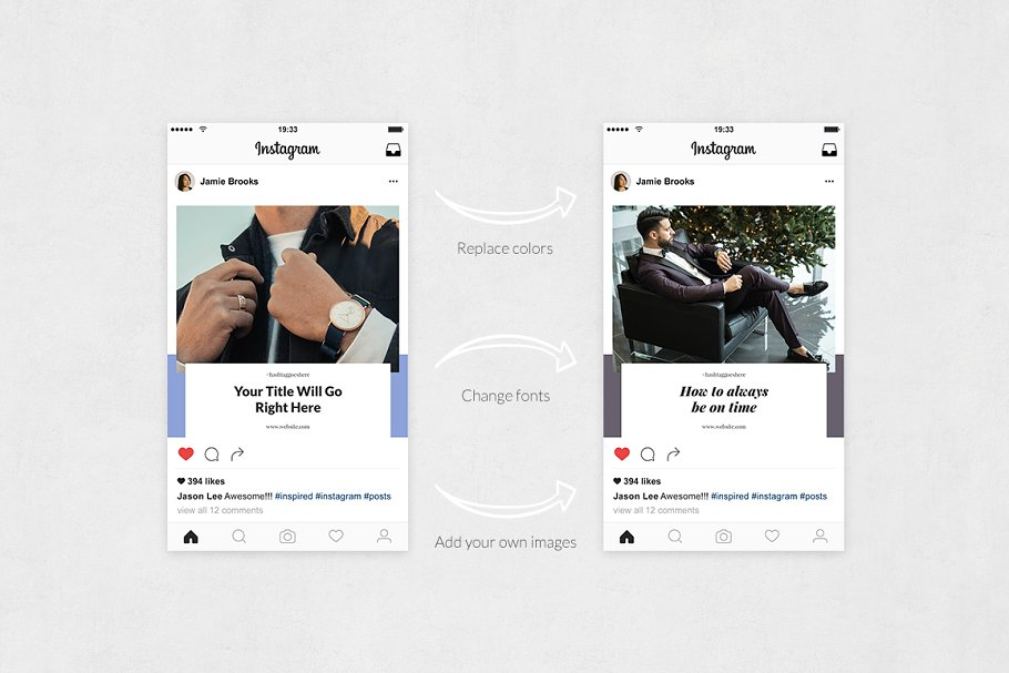 Boss Life Instagram Posts in Instagram Templates - product preview 4