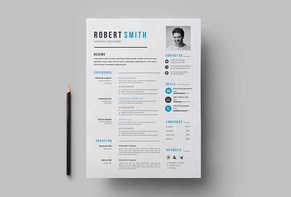Professional Resume / CV Template in Letter Templates - product preview 2