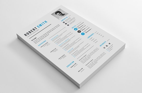 Professional Resume / CV Template in Letter Templates - product preview 3