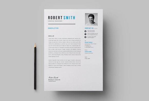 Professional Resume / CV Template in Letter Templates - product preview 4