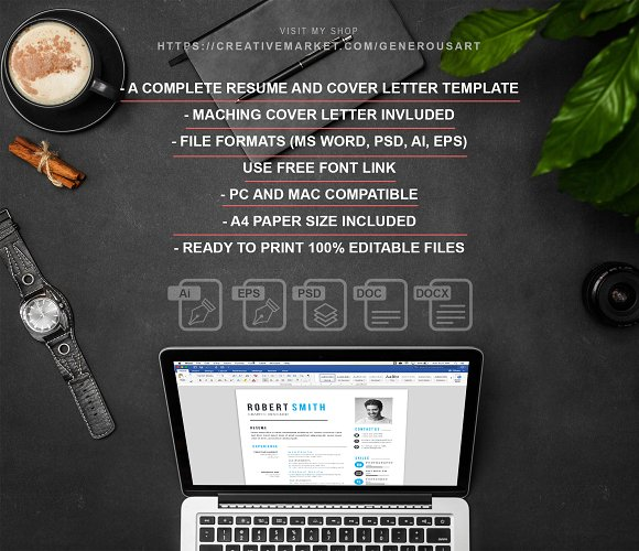 Professional Resume / CV Template in Letter Templates - product preview 6