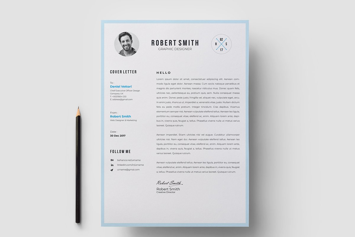 Resume / CV Template in Resume Templates - product preview 5