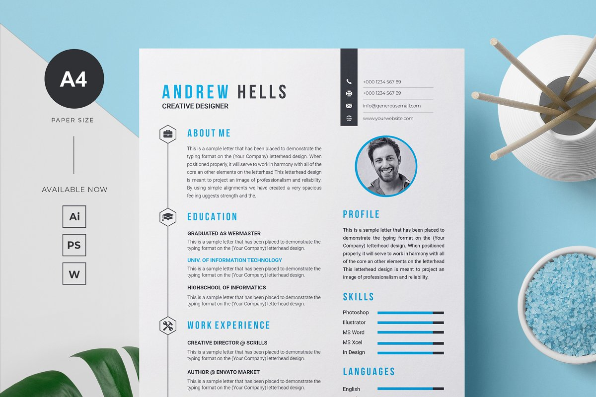 Resume / CV Template in Letter Templates - product preview 8