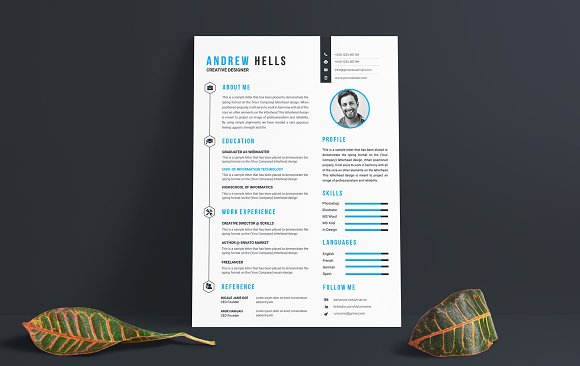 Resume / CV Template in Letter Templates - product preview 1
