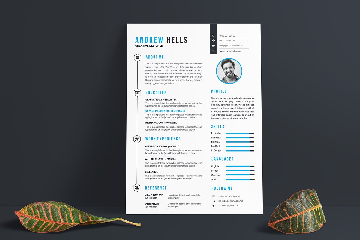 Resume / CV Template in Resume Templates - product preview 1