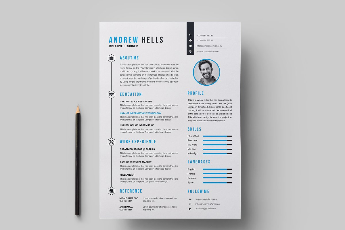 Resume / CV Template in Resume Templates - product preview 2