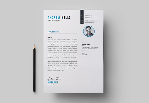 Resume / CV Template in Letter Templates - product preview 4