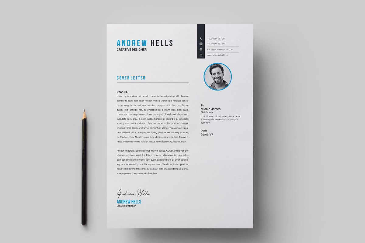 Resume / CV Template in Resume Templates - product preview 4