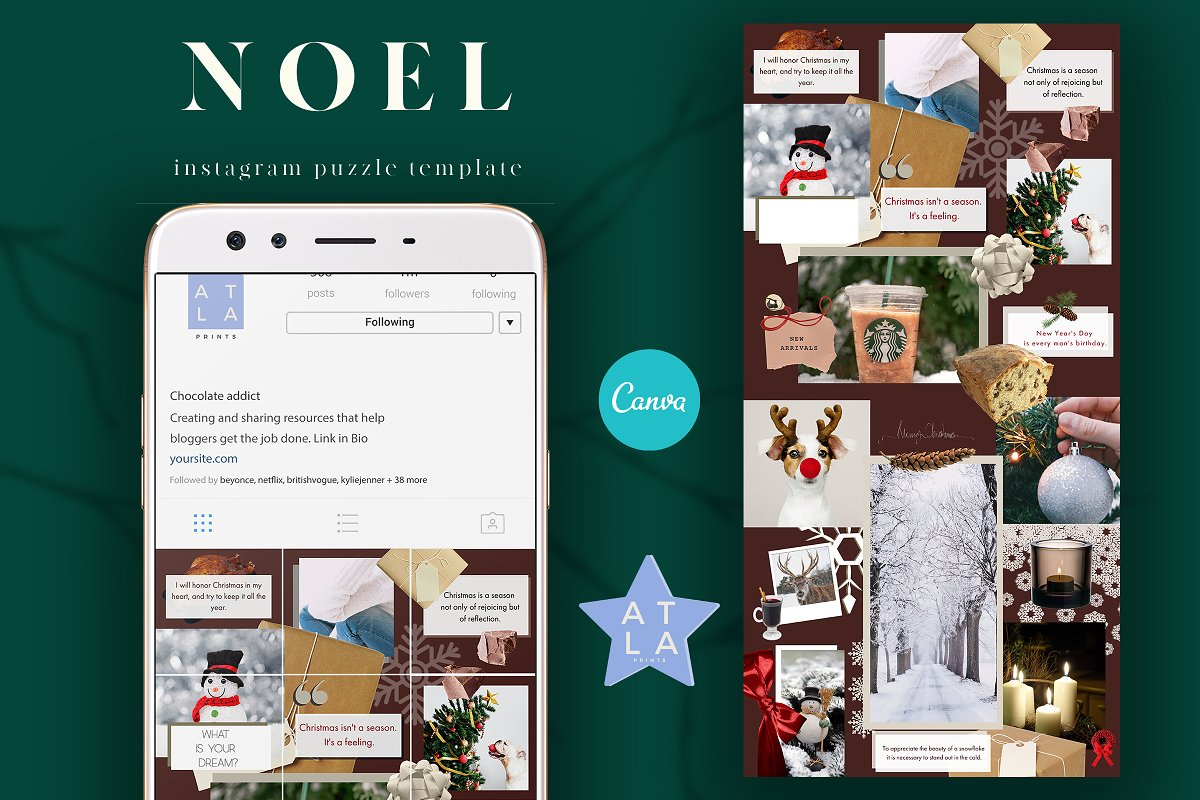 Instagram Puzzle Template Canva