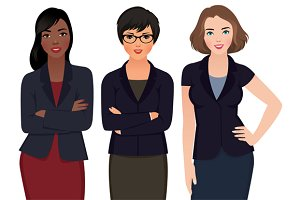 Group Multi Ethnic woman Businessmen