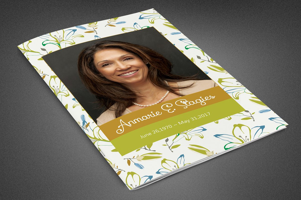 Miss You Funeral Program Template