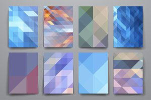 Set of geometric background template