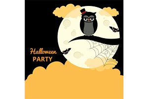 Poster for the Halloween party