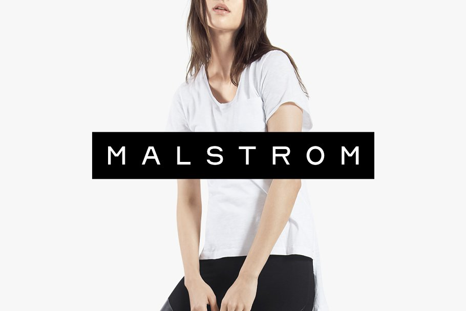 MALSTROM - Minimal Display Typeface
