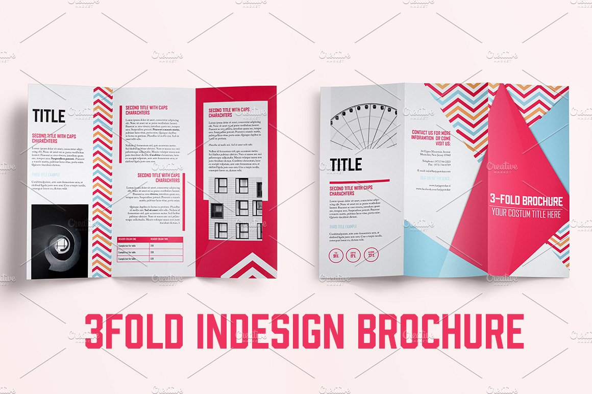 indesign brochure template - indesign 3fold brochure brochure templates creative