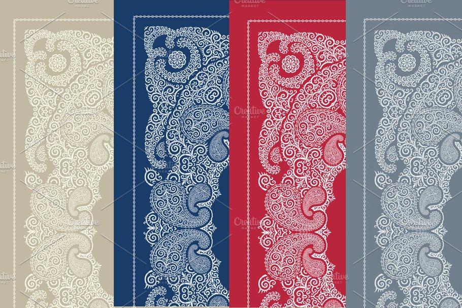 Bandanna print design set (vector)