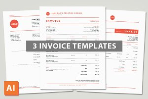 3 Illustrator Invoice Templates